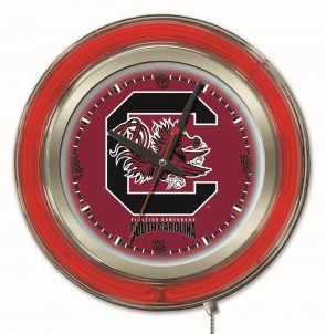 "15"" Neon University of South Carolina Logo Clock"