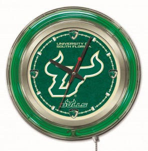 "15"" Neon University of South Florida Logo Clock"