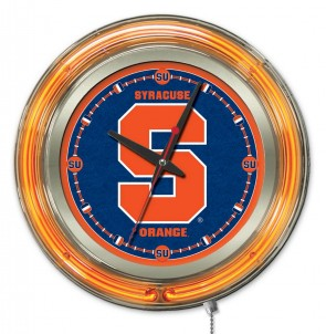 "15"" Neon Syracuse University Logo Clock"