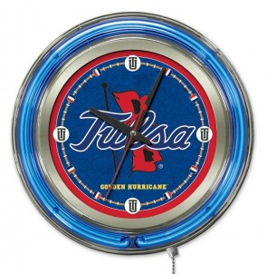 Tulsa 15 Inch Neon Clock