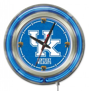 Kentucky UK 15 Inch Neon Clock
