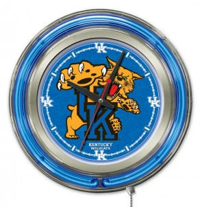 Kentucky Wildcat 15 Inch Neon Clock