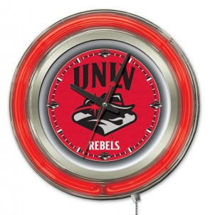 UNLV 15 Inch Neon Clock