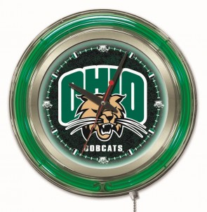 "15"" Neon Ohio University Logo Clock"