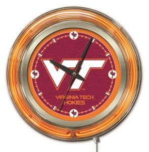 Virginia Tech 15 Inch Neon Clock