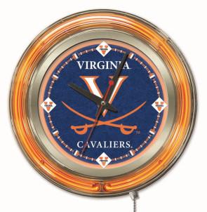 "15"" Neon University of Virginia Logo Clock"
