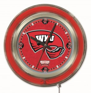 "15"" Neon Western Kentucky University Logo Clock"