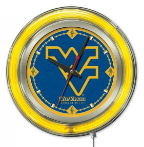 "15"" Neon West Virginia University Logo Clock"