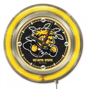 "15"" Neon Wichita State University Logo Clock"