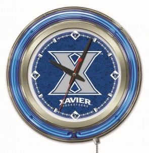 "15"" Neon Xavier University Logo Clock"