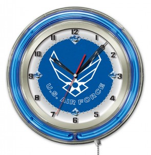 United States Air Force 19 Inch Neon Clock