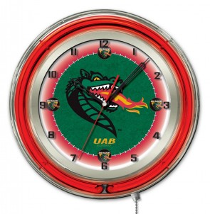 Alabama at Birmingham 19 Inch Neon Clock