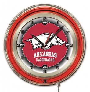 Arkansas 19 Inch Neon Clock