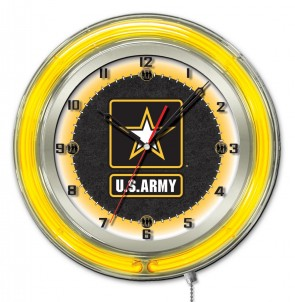 United States Army 19 Inch Neon Clock