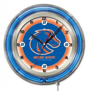 Boise State 19 Inch Neon Clock