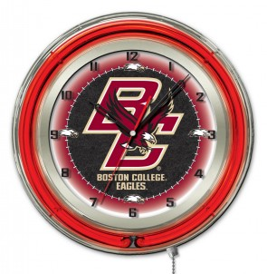 Boston College 19 Inch Neon Clock