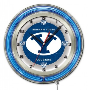 Brigham Young 19 Inch Neon Clock