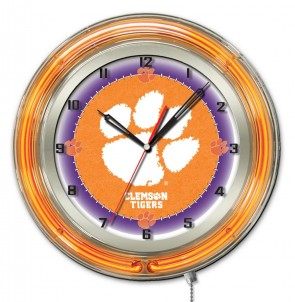 Clemson 19 Inch Neon Clock