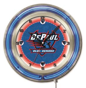 DePaul 19 Inch Neon Clock