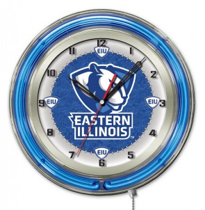 Eastern Illinois 19 Inch Neon Clock