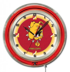 Ferris State 19 Inch Neon Clock