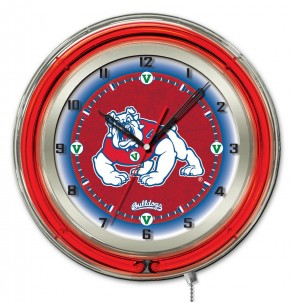 Fresno State 19 Inch Neon Clock