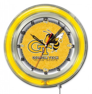Georgia Tech 19 Inch Neon Clock