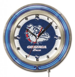 Gonzaga 19 Inch Neon Clock