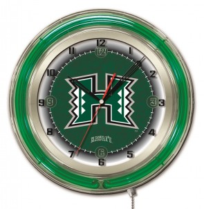 Hawaii 19 Inch Neon Clock