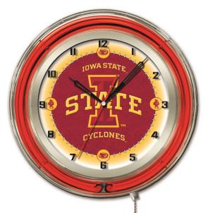 Iowa State 19 Inch Neon Clock