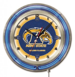 Kent State 19 Inch Neon Clock