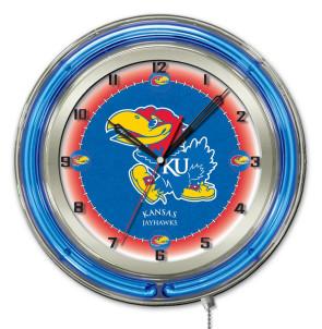 Kansas 19 Inch Neon Clock