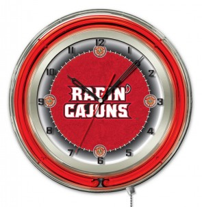 Louisiana at Lafayette 19 Inch Neon Clock