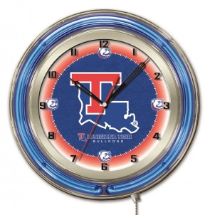 Louisiana Tech 19 Inch Neon Clock