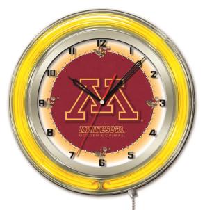 "19"" Neon University of Minnesota Logo Clock"