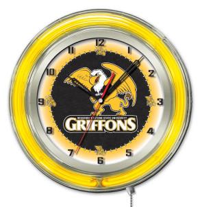 Missouri Western State 19 Inch Neon Clock