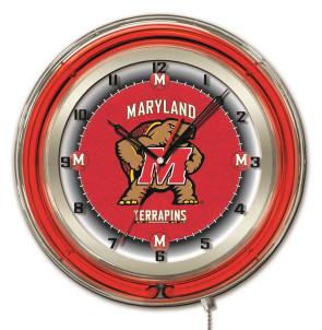 "19"" Neon University of Maryland Logo Clock"