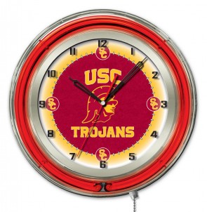 "19"" Neon University of Southern California Logo Clock"