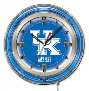 Kentucky UK 19 Inch Neon Clock