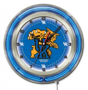Kentucky Cat 19 Inch Neon Clock