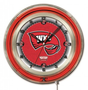 "19"" Neon Western Kentucky University Logo Clock"