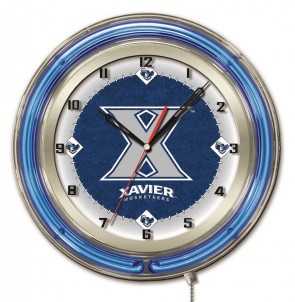 "19"" Neon Xavier University Logo Clock"