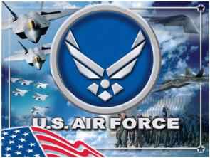 US Air Force Logo Printed Canvas Art
