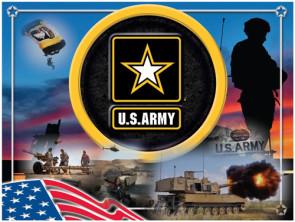 US Army Logo Printed Canvas Art