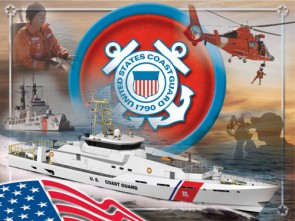 US Coast Guard Logo Printed Canvas Art