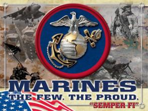 Us Marine Corps Logo Printed Canvas Art