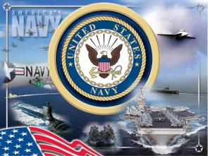 US Navy Logo Printed Canvas Art