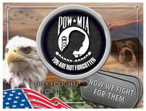 POW - MIA Logo Printed Canvas Art