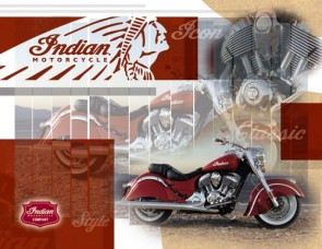 Indian Motorcycles Collage Canvas