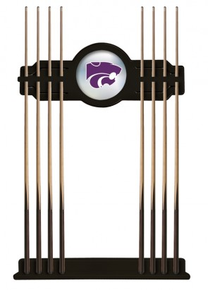 Kansas State Cue Rack Black Finish